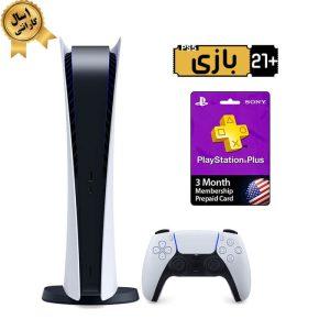 خرید پلی استیشن 5 دیجیتال همراه 3 ماه اشتراک PSN Plus