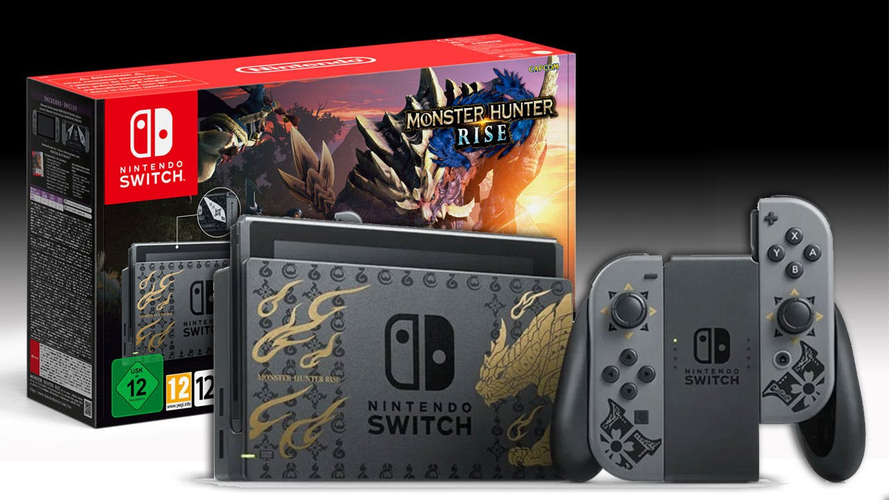 خرید کنسول بازی Nintendo Switch – باندل Monster Hunter Rise