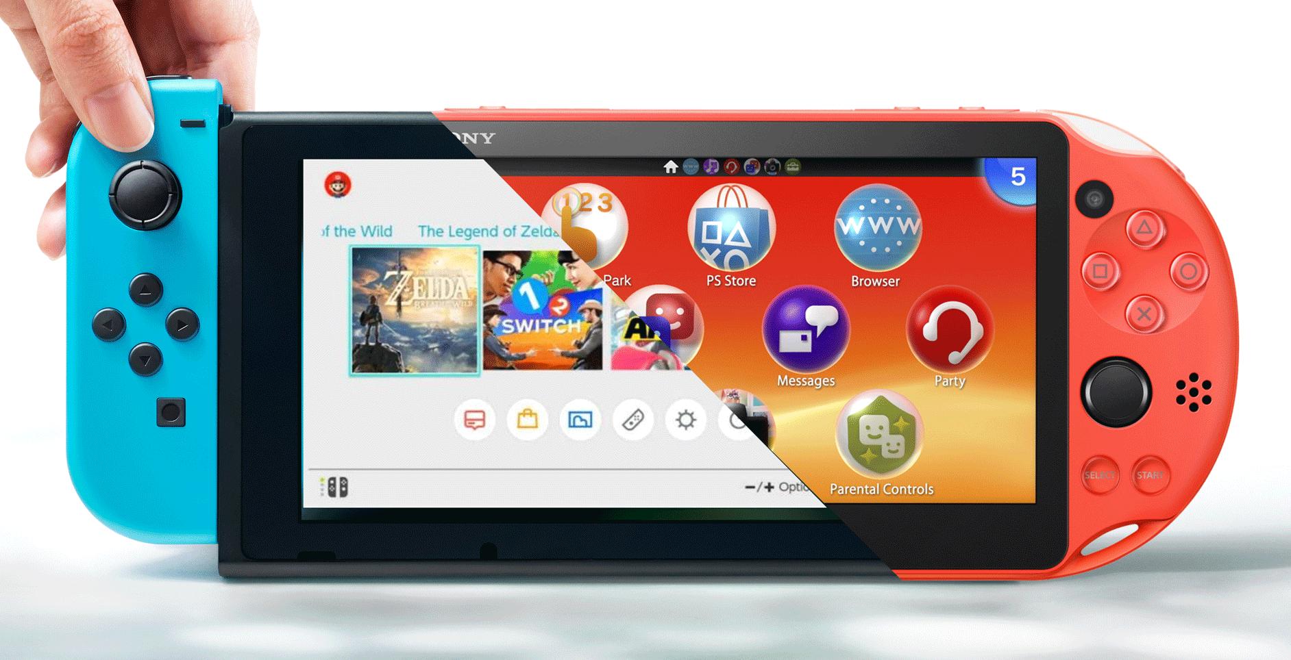 Nintendo Switch vita handheld